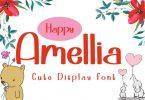 Happy Amellia Font
