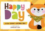 Happy Day - cutout kids font
