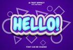 Hello 3d Text Effect