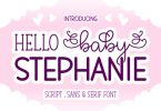 Hello Baby Stephanie Font