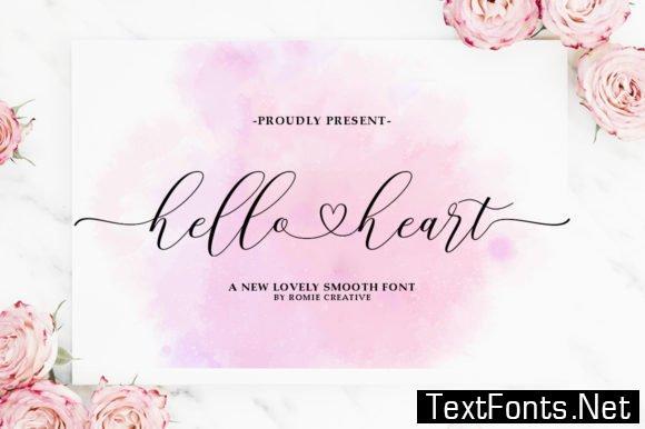 Hello Heart Font