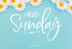 Hello Sunday Font