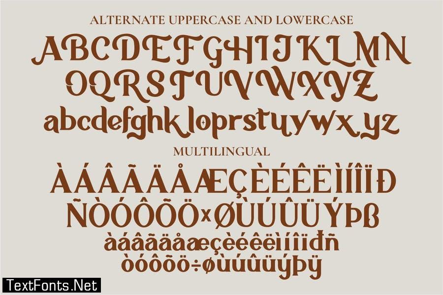 Holla Wagon - Serif Font