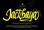 Jackbaya | Modern Script Font
