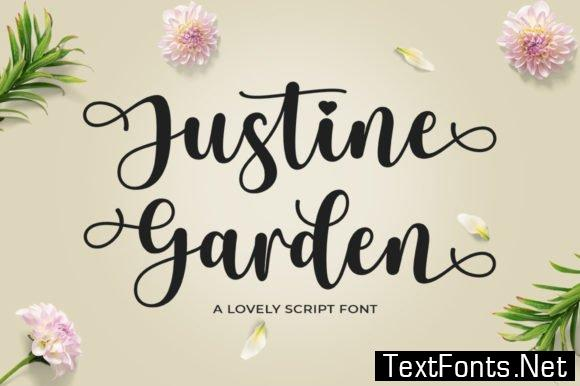 Justine Garden Font