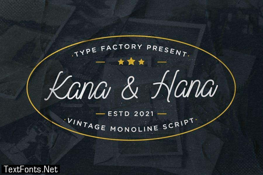 Kana & Hana – Vintage Monoline Script