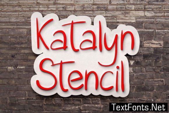 Katalyn Stencil Font