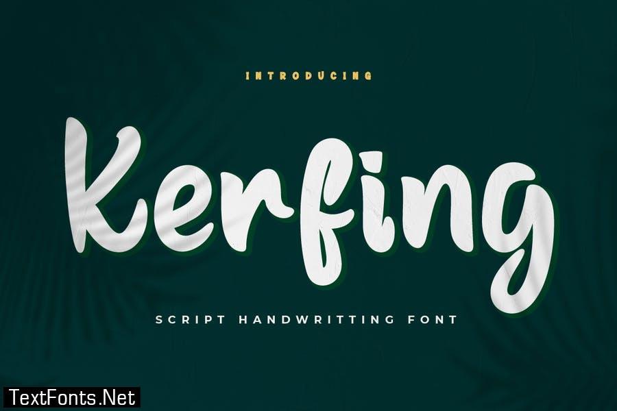 Kerfing Font