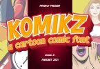 KOMIKZ - cartoon font