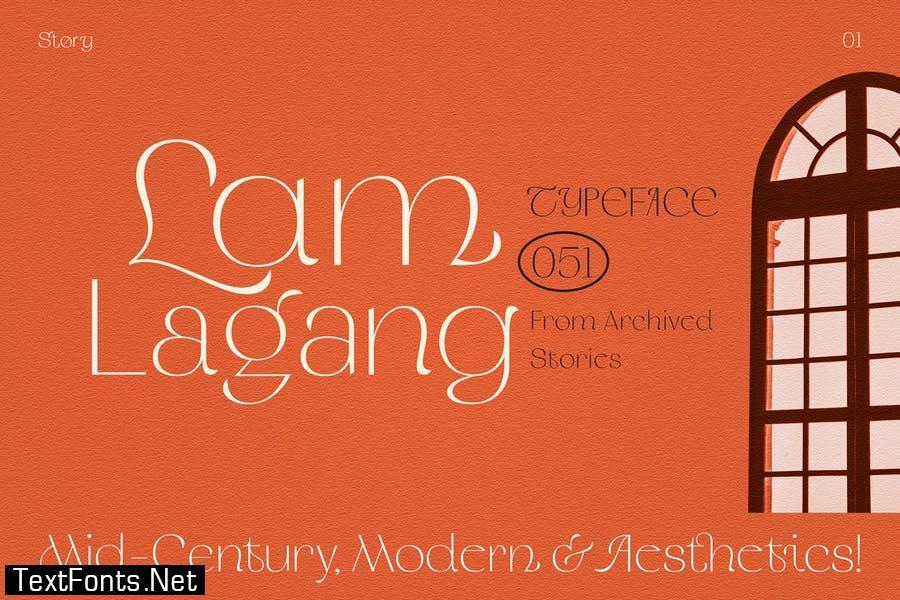 Lam Lagang 051 Font