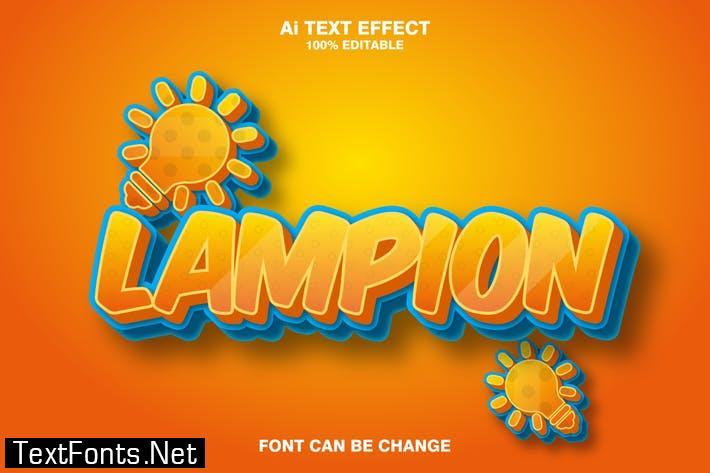lampion 3d text effect