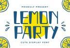 Lemon Party - Cute Display Font
