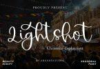 Lightshot - Christmas Display Font