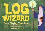 Log Wizard - kids font