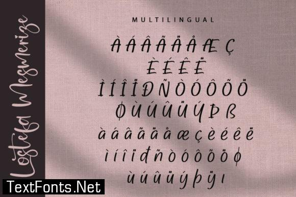 Lostefa Mesmerize Font