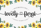 Lovely Floral Font