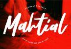 Mahtial | A Stylish Brush Script Font