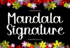 Mandala Signature Font