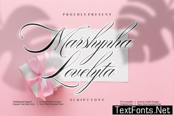 Marshynha Lovelytta Font