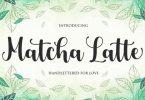 Matcha Latte Script Font