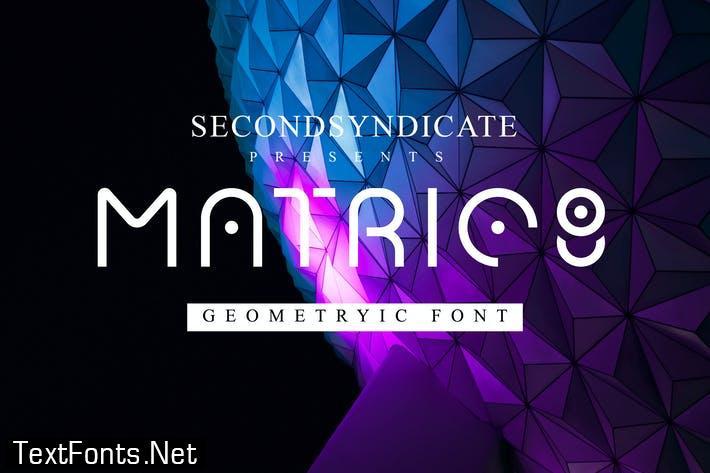 Matric8 - Geometric Font