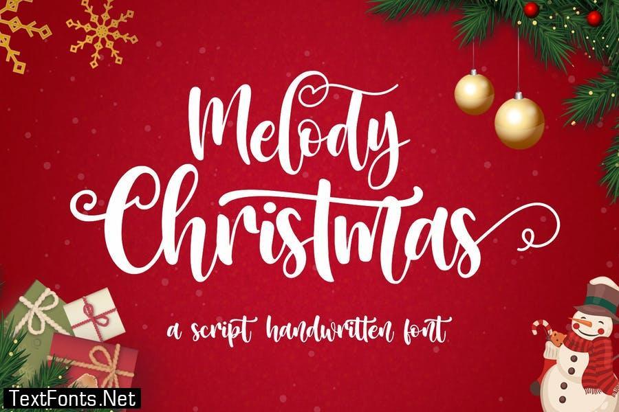 Melody Christmas - Script Handwritten Font