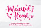 Merciful Heart Font