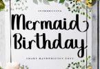 Mermaid Birthday Font