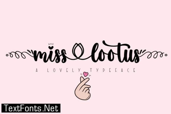 Miss Lootus Font