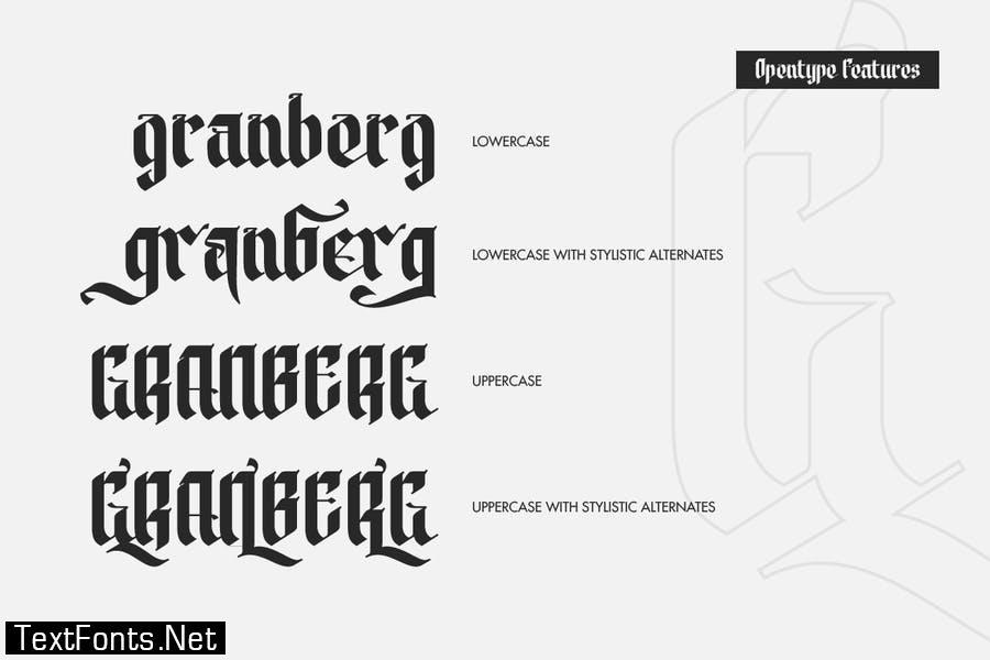Modern Blackletter Font
