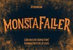 Monstafaller Display Font