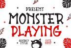 Monster Playing - Display Font