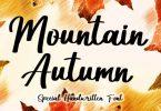 Mountain Autumn Font