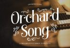 Orchard Song – Decorative Serif Font