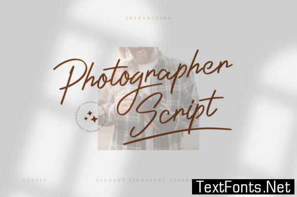 Photographer Script Font