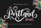 Portland Script Font