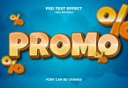 promo 3d text effect