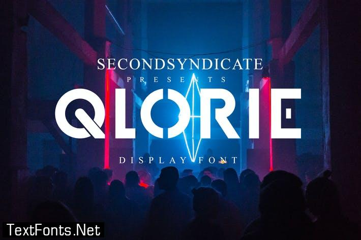 Qlorie - Display Font