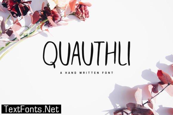 Quauthli Font