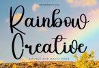 Rainbow Creative Font