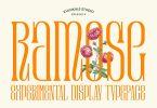 Ramose - Experimental Classic Display Serif Font