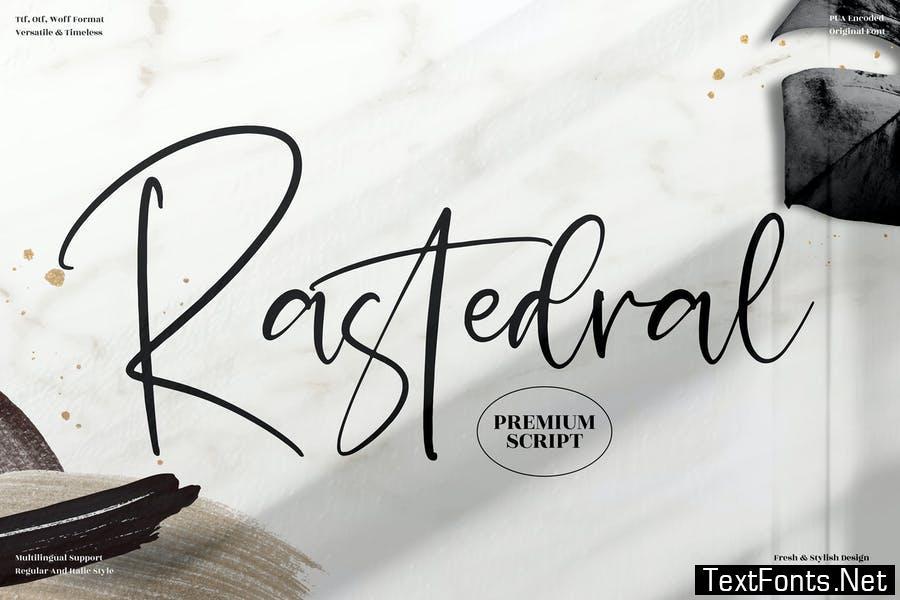 Rastedral Handwritten Font LS