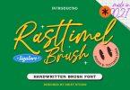 Rasttimel Brush Font