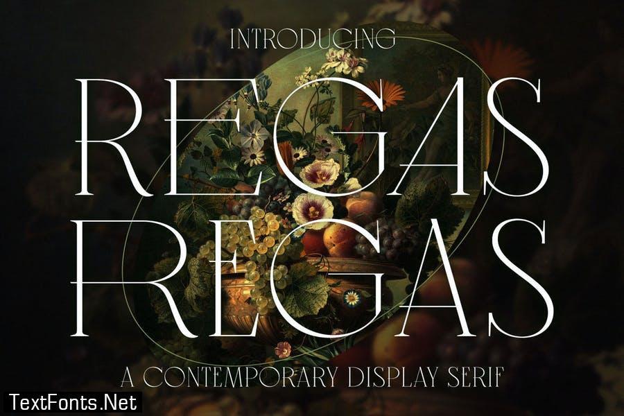 Regas Classic Vintage Display Serif Font