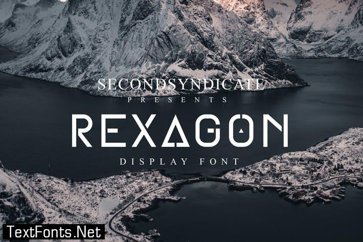 Rexagon - Display font