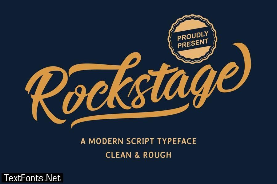 Rockstage - Modern Script Typeface Font