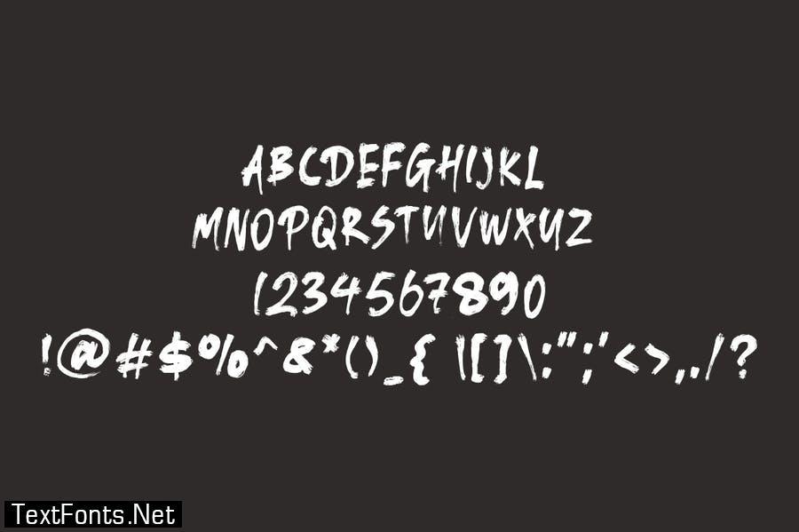 Sijusto - Brush Font
