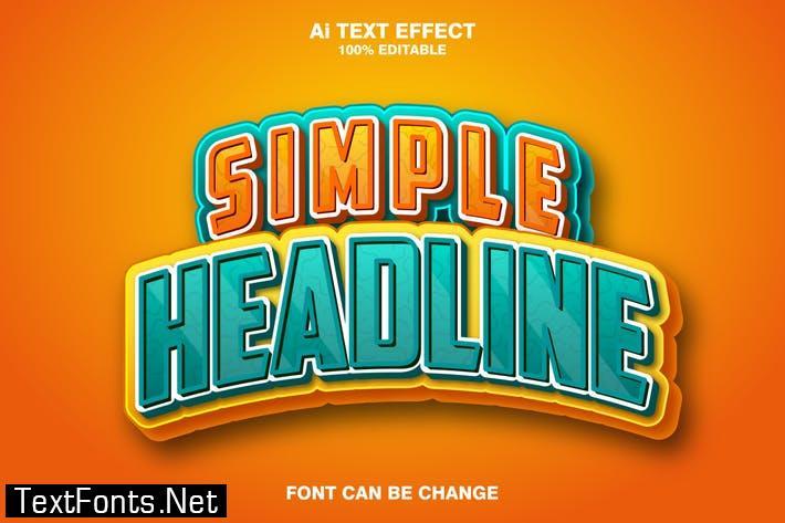 simple headline 3d text effect