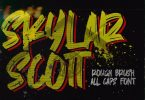 Skylarr Scott - Handwritten Brush font