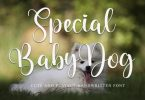 Special Baby Dog Font